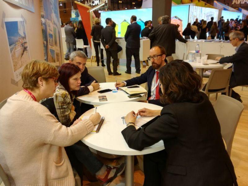 Miranda, Quesada i Ortiz reunits amb el diputat de Turisme de Barcelona, Miquel Forns